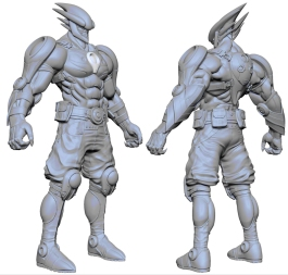 A preliminary Hybrid character. One of many. Edison Yan was the Concept Artist for this guy.