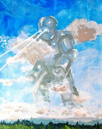 Chrome Giant; acrylic on canvasa