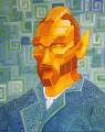 "Vincent Van Goghbot; oil on canvas, 16"" x 20"""